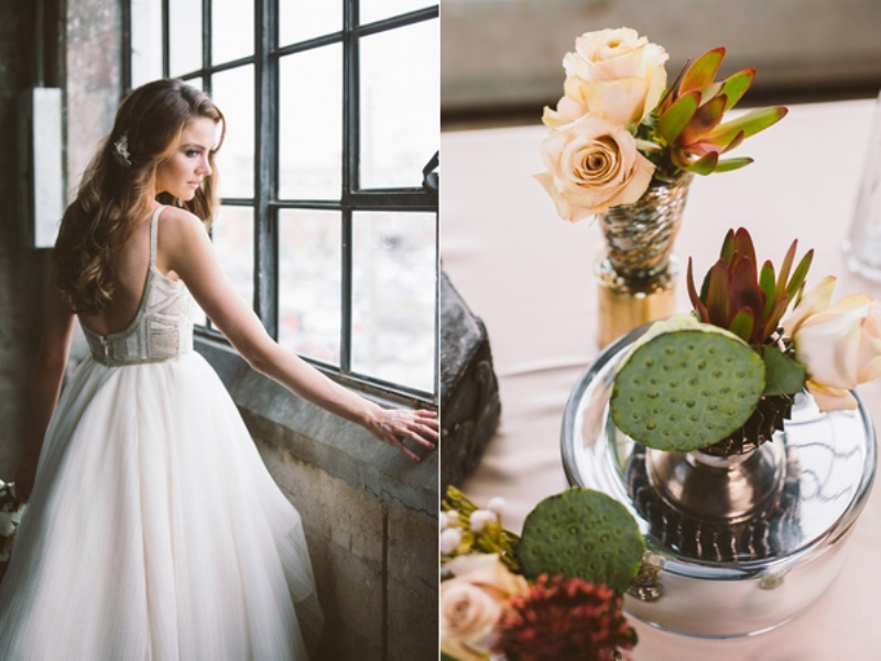 Picture Of eclectic wedding inspiration with industrial and art deco feel  11