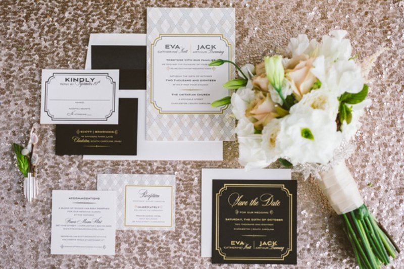 Picture Of eclectic wedding inspiration with industrial and art deco feel  2