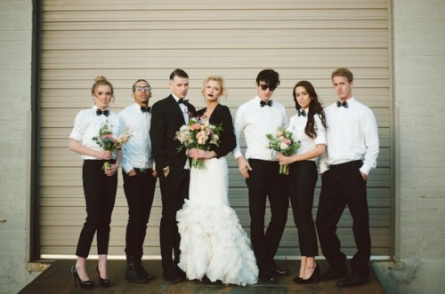 Edgy Black And Blush Pink Alternative Wedding Inspiration