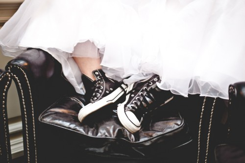 Edgy Bridal Shoot In Rock Glam Style