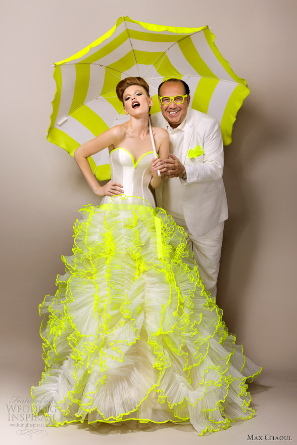 Picture Of Elegant And Fashionable Wedding Gowns By Max Chaoul