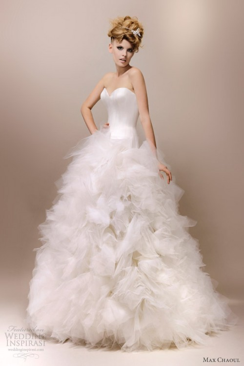 Elegant And Fashionable Wedding Gowns By Max Chaoul