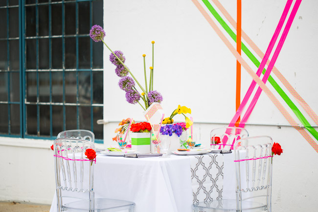 Picture Of elegant and stylish neon themed wedding shoot  11