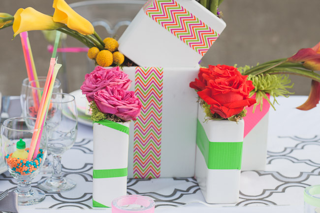 Picture Of elegant and stylish neon themed wedding shoot  18