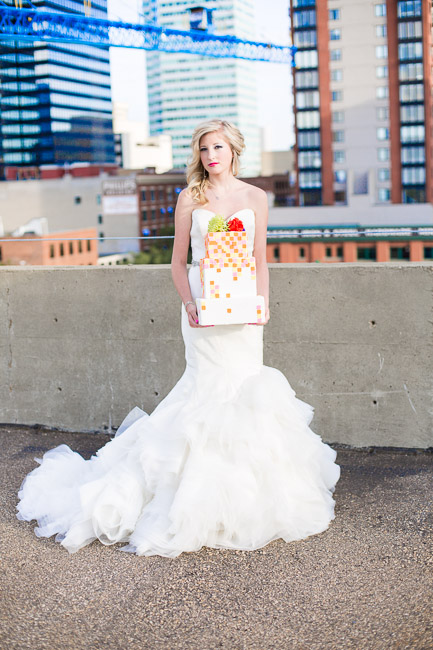Picture Of elegant and stylish neon themed wedding shoot  19