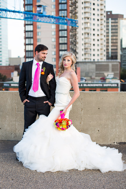 Picture Of elegant and stylish neon themed wedding shoot  22