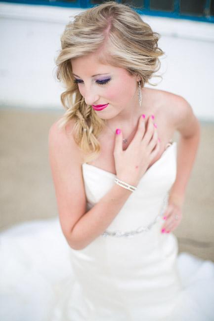 Elegant And Stylish Neon Themed Wedding Shoot