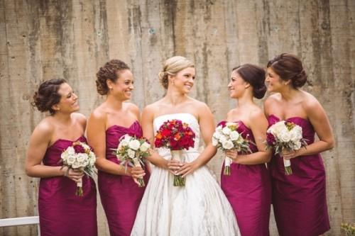 Elegant And Trendy Marsala-Colored Fall Wedding
