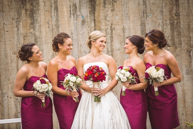 Picture Of elegant and trendy marsala colored fall wedding  1