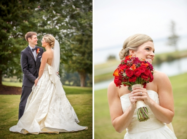 Picture Of elegant and trendy marsala colored fall wedding  10