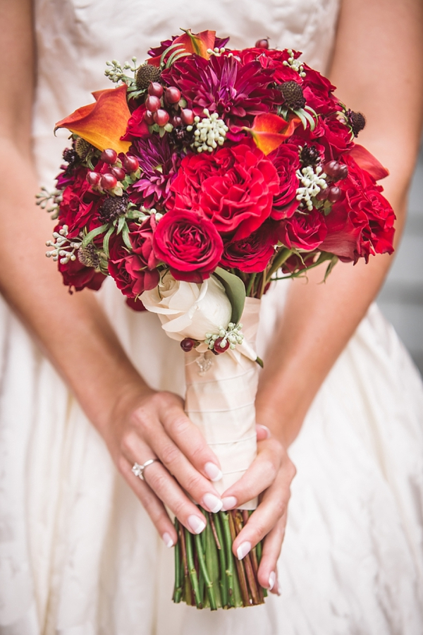 Picture Of elegant and trendy marsala colored fall wedding  3
