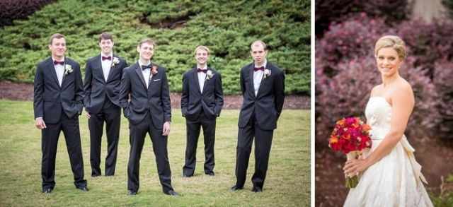 Picture Of elegant and trendy marsala colored fall wedding  6