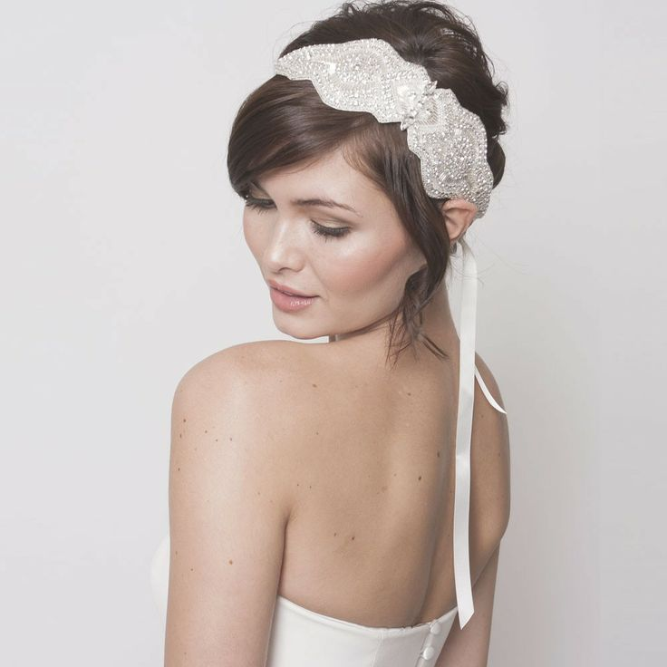an elegant fully embellished headband is a lovely idea for a vintage or art deco bride
