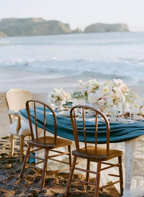 Elegant Beach Wedding Inspiration With Glam Touches