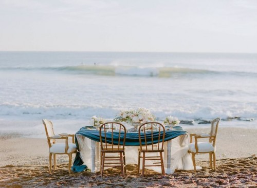 Elegant Beach Wedding Inspiration With Glam Touches