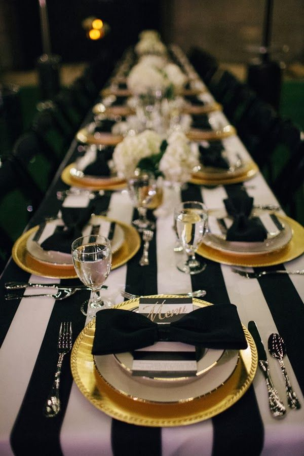 Black Gold White Table Setting. Super Elegant Black And Gold Wedding Ideas & gold and black table settings \u2013 Loris Decoration