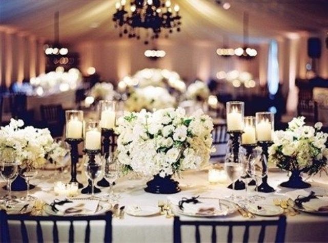 Picture Of Elegant Black And White Wedding Table Settings & elegant black and white table settings | My Web Value