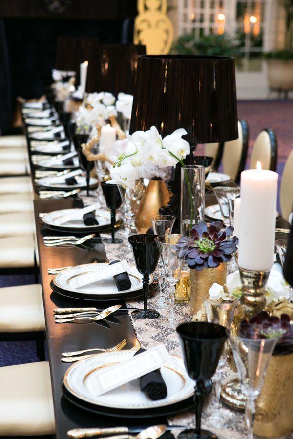 Elegant Table Settings 52 elegant black and white wedding table settings - weddingomania