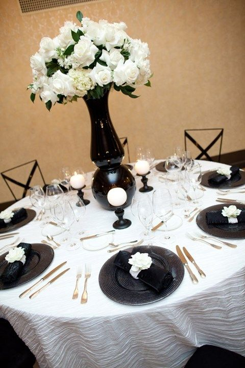 Black And White Center Table