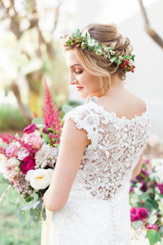 Picture Of elegant bohemian garden wedding inspiration  1