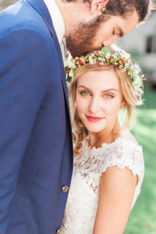 Picture Of elegant bohemian garden wedding inspiration  14