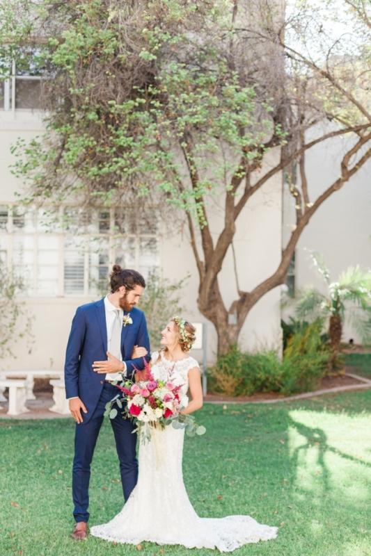 Picture Of elegant bohemian garden wedding inspiration  15