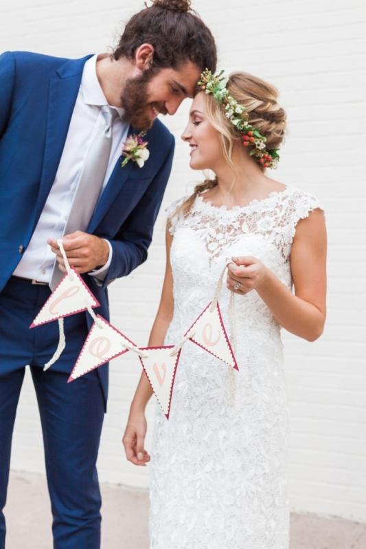 Picture Of elegant bohemian garden wedding inspiration  16