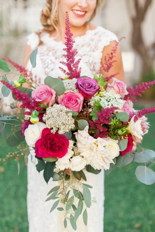 Picture Of elegant bohemian garden wedding inspiration  2