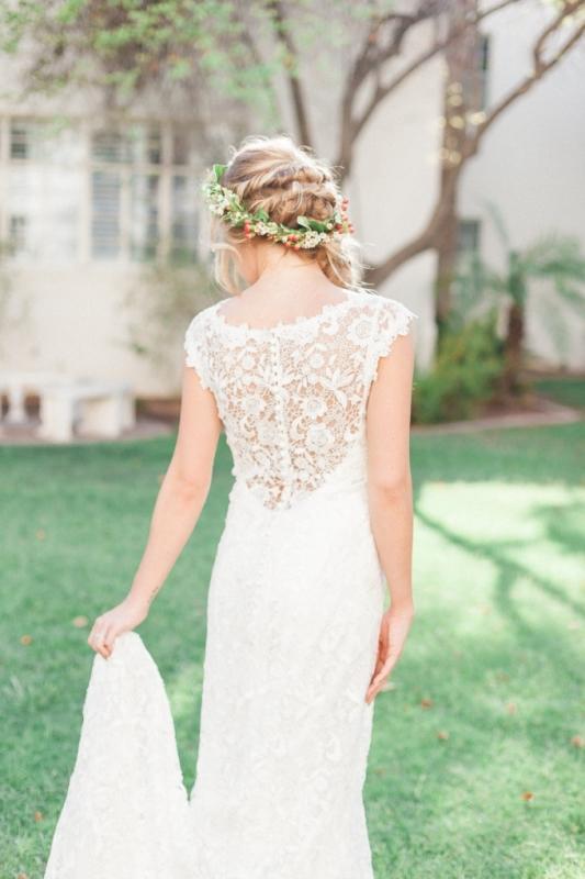 Picture Of elegant bohemian garden wedding inspiration  3