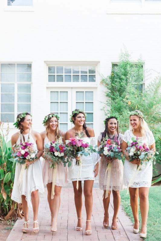 Picture Of elegant bohemian garden wedding inspiration  4