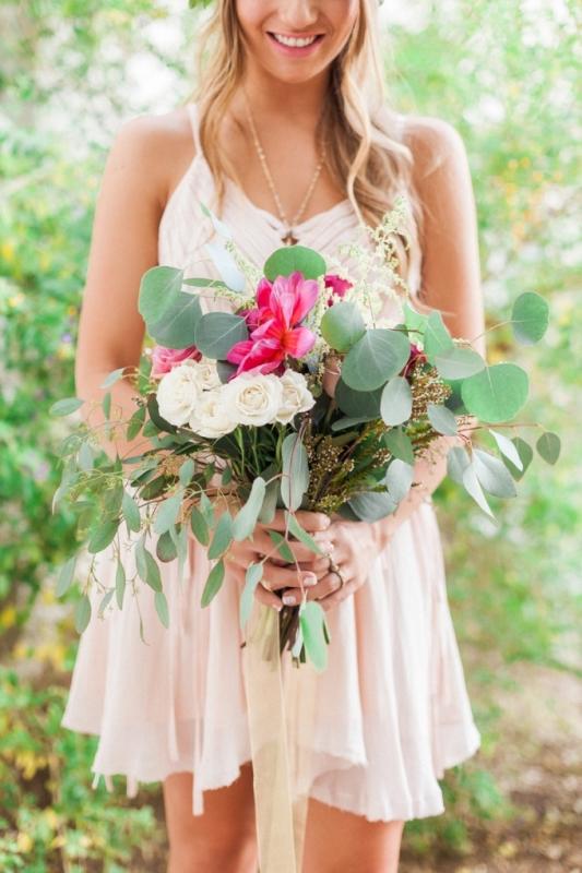Picture Of elegant bohemian garden wedding inspiration  5