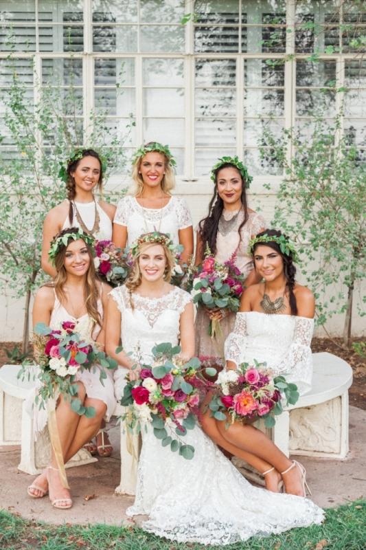 Picture Of elegant bohemian garden wedding inspiration  6