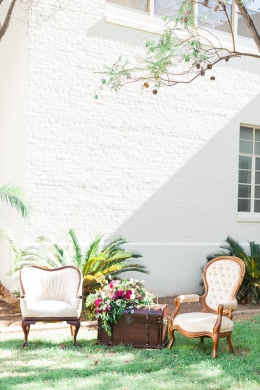 Picture Of elegant bohemian garden wedding inspiration  7