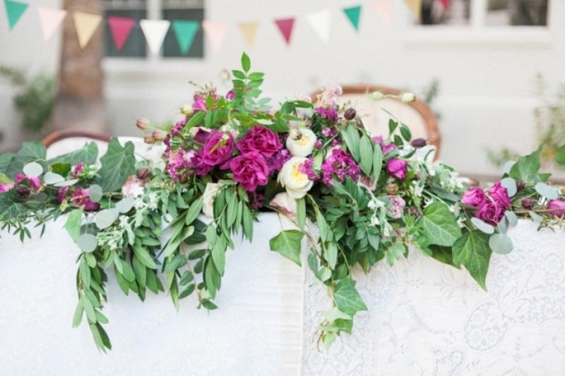 Picture Of elegant bohemian garden wedding inspiration  9