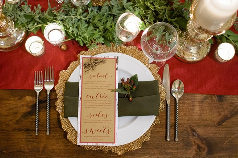 Picture Of elegant christmas themed wedding inspiration  1