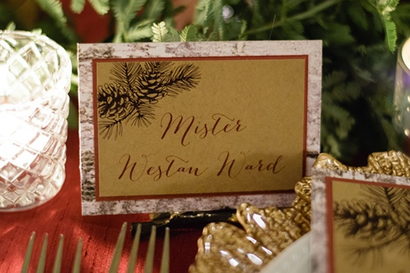 Picture Of elegant christmas themed wedding inspiration  10