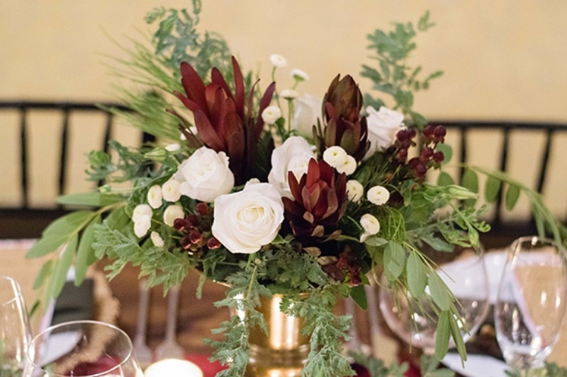 Picture Of elegant christmas themed wedding inspiration  11