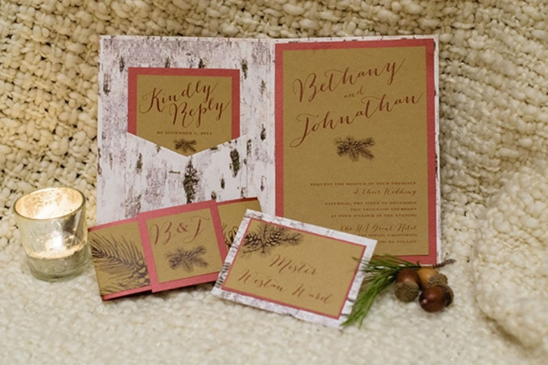 Picture Of elegant christmas themed wedding inspiration  2