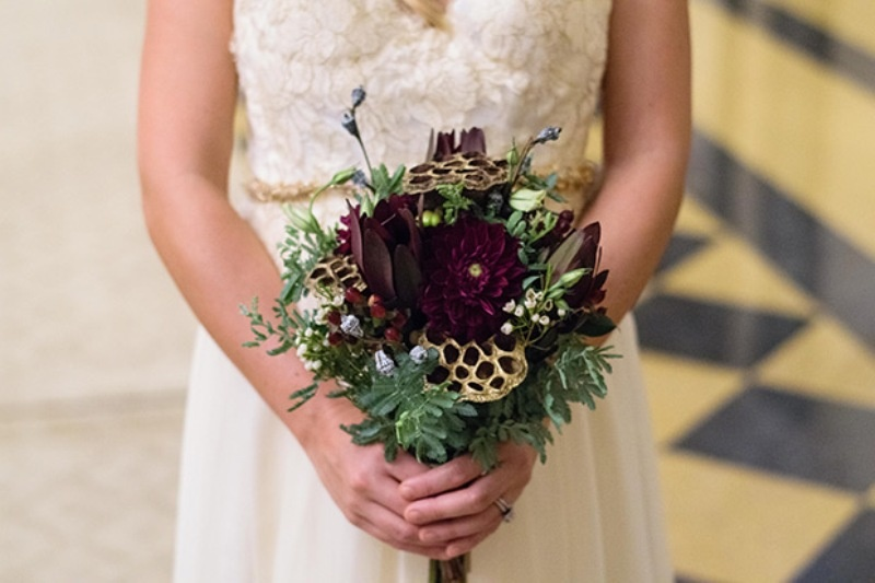 Picture Of elegant christmas themed wedding inspiration  4