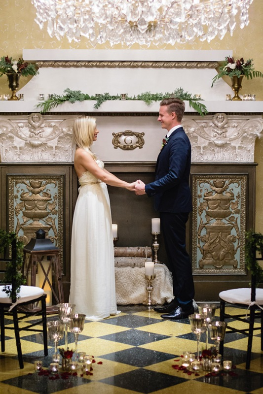 Picture Of elegant christmas themed wedding inspiration  8