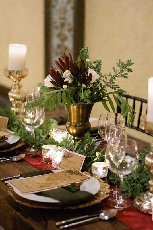 Picture Of elegant christmas themed wedding inspiration  9