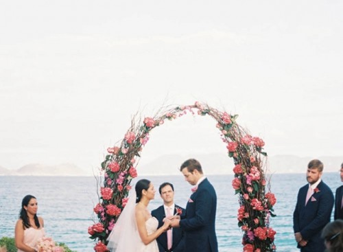 Elegant Destination Wedding In Anguilla With Hot Pink Touches