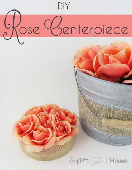 Elegant DIY Rose Centerpiece