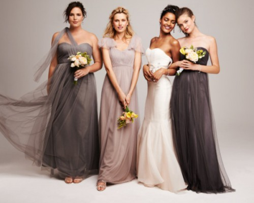 Elegant Mismatched Bridesmaids' Dresses From Nordstrom