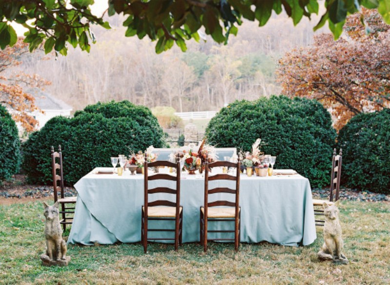 Picture Of elegant plum and gold autumn inspired wedding shoot  12