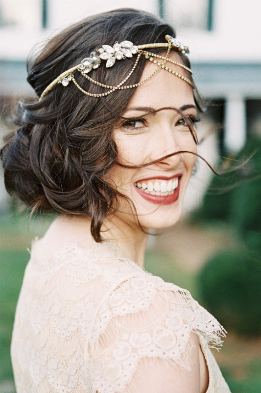 Picture Of elegant plum and gold autumn inspired wedding shoot  15
