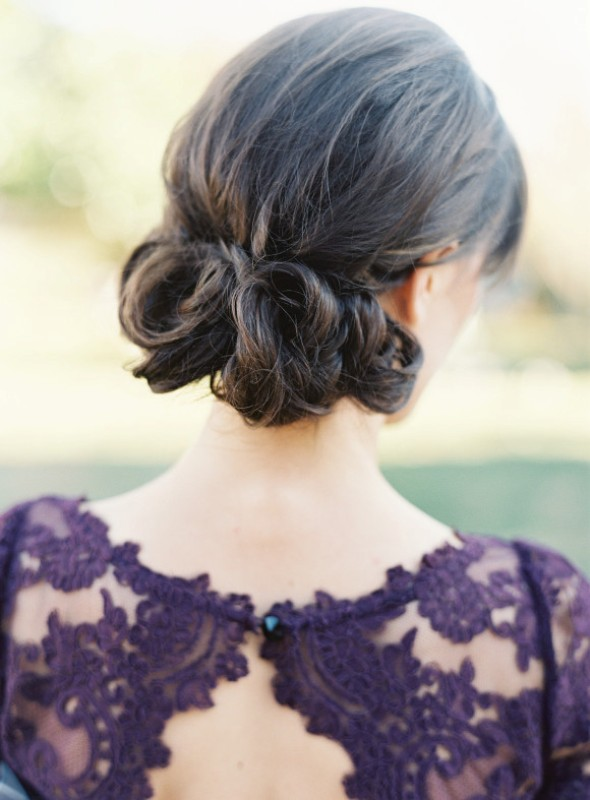 Picture Of elegant plum and gold autumn inspired wedding shoot  17