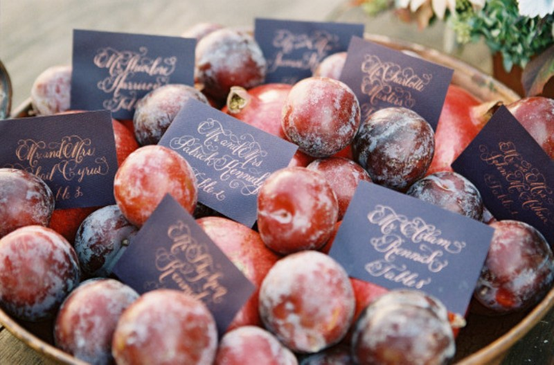 Picture Of elegant plum and gold autumn inspired wedding shoot  6