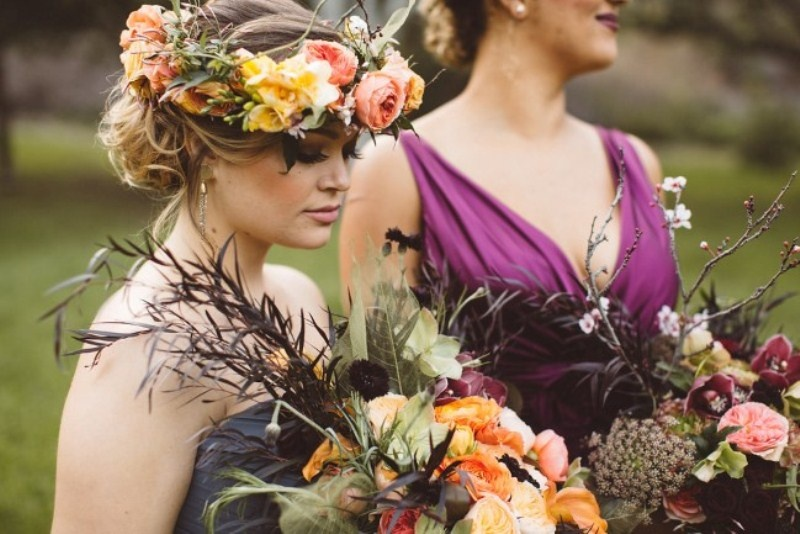 Picture Of elegant rustic outdoor fall wedding styled shoot  10
