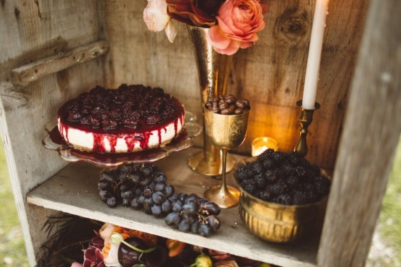 Picture Of elegant rustic outdoor fall wedding styled shoot  12